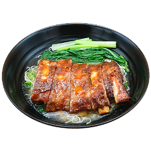 Foto Honey BBQ Iberico spare ribs noodle soup
