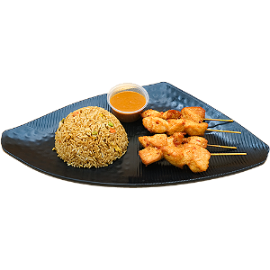 Foto Chicken sate fried rice